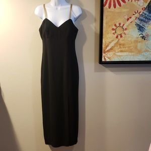 Laundry by Shelli Segal Black Slit Dress Size 4